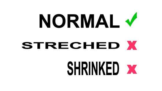 text-no-stretching